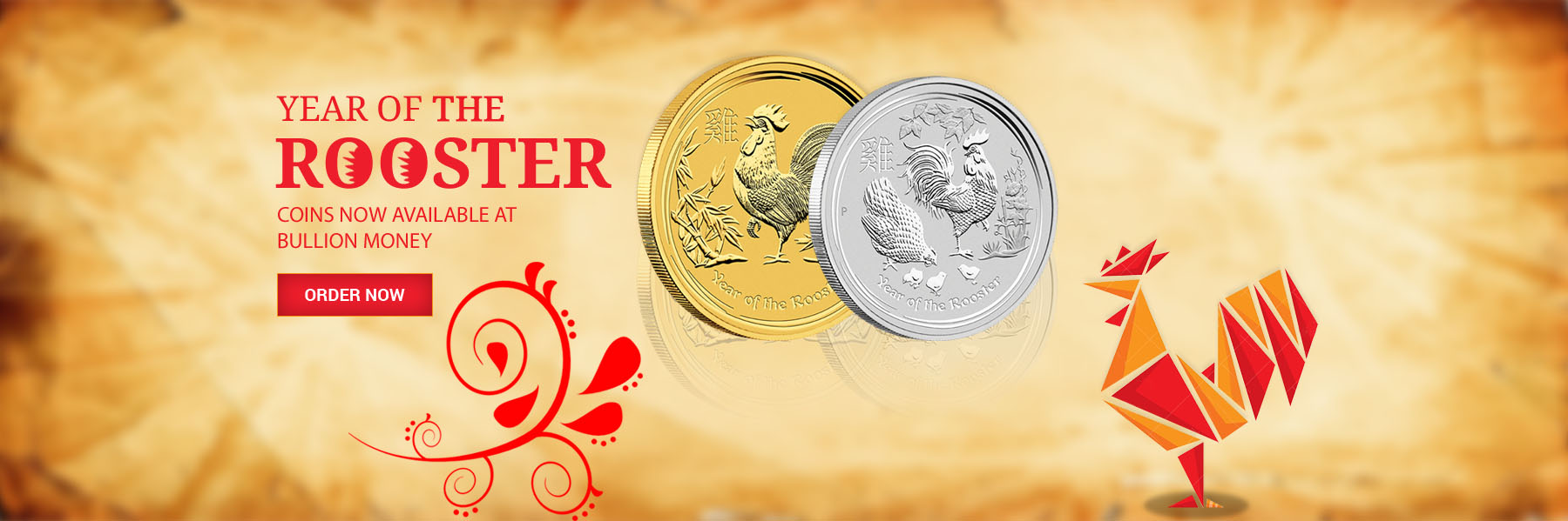 Year of the rooster 2017 Lunar Coins by Perth Mint