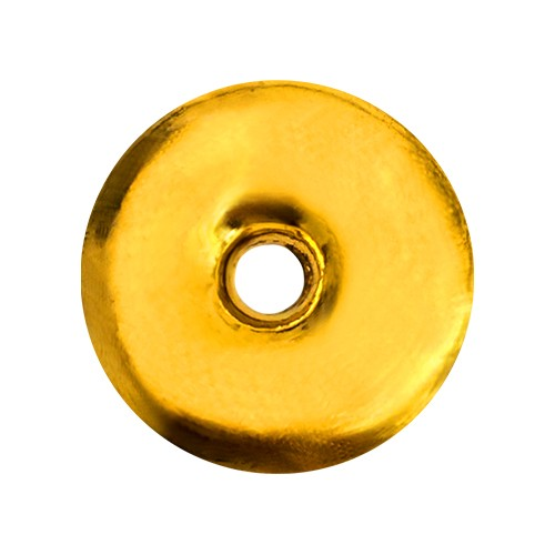 1 Tael Abc Gold Round Bar With Hole 37 5 G