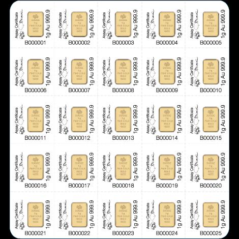 Pamp 25g Multigram Gold Bars