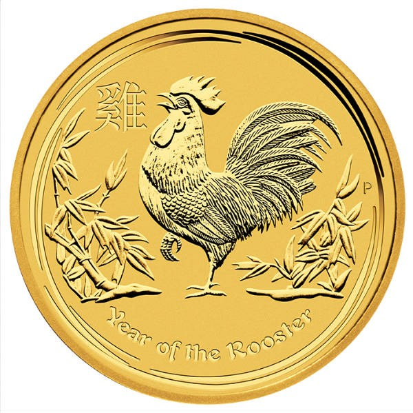 1oz Lunar Rooster 2017 Gold Coin