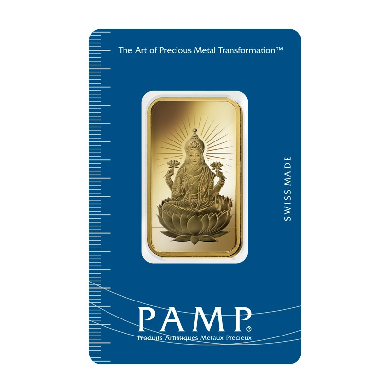 1oz PAMP lakshmi gold bar