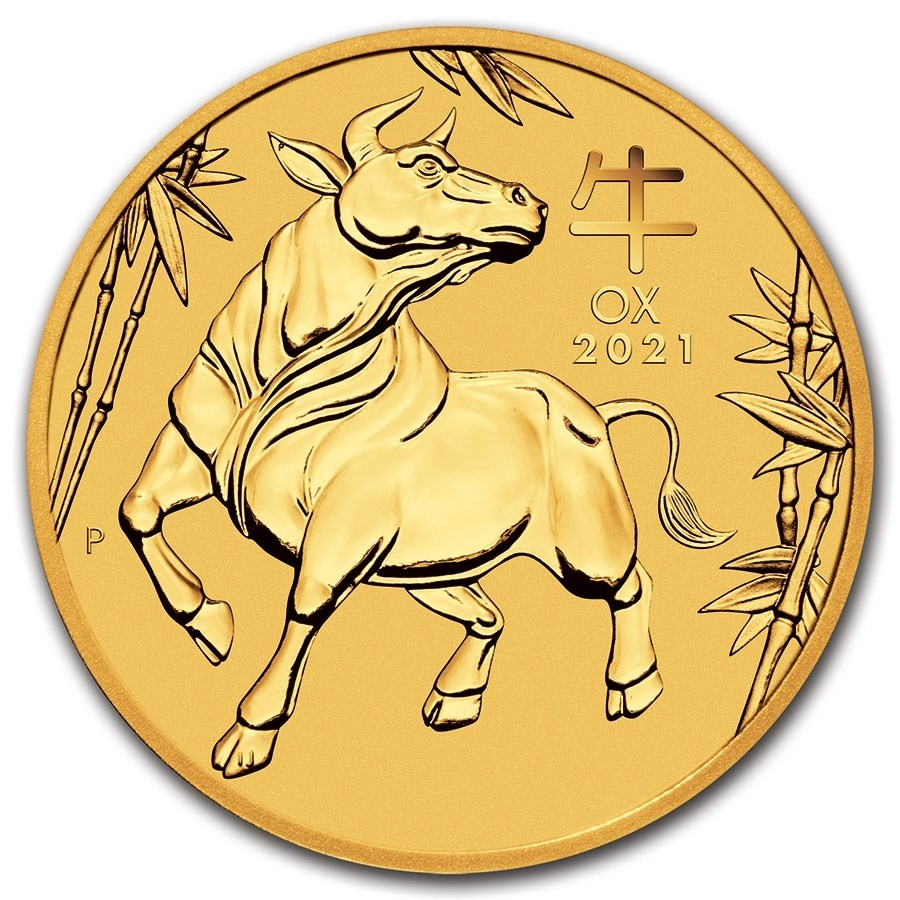 1oz lunar ox gold coins