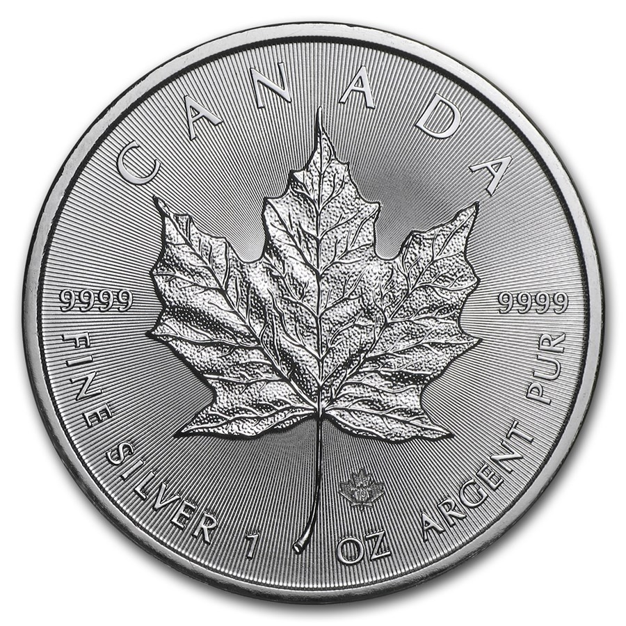 1oz 2021 Canadian Silver Maple Coin