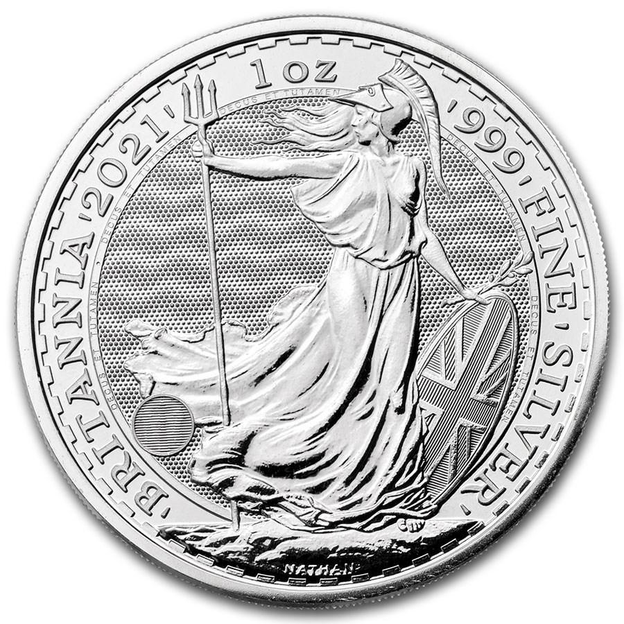 1oz 2021 Silver Britannia UK Mint