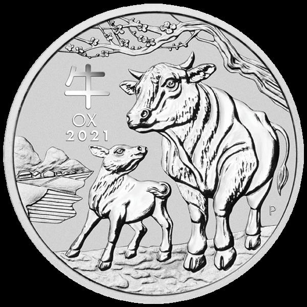 2oz Lunar Ox Silver Coin