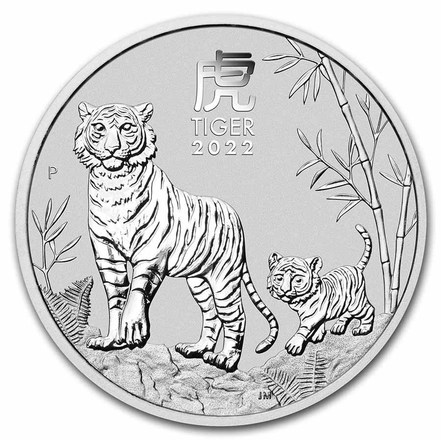 2oz Lunar Tiger Silver Coin