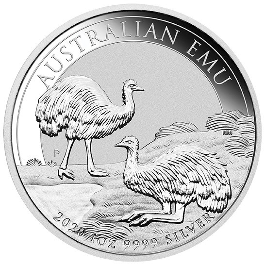 1oz Silver Emu 2020 Perth Mint Coin