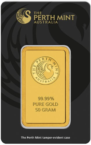 50 gram Perth Mint Gold Bar