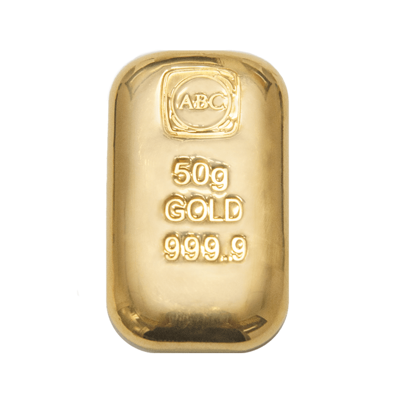 50 Gram ABC Gold cast bar