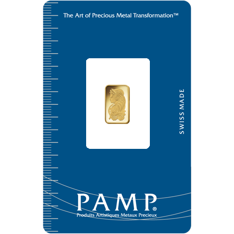 1 gram PAMP gold minted bar