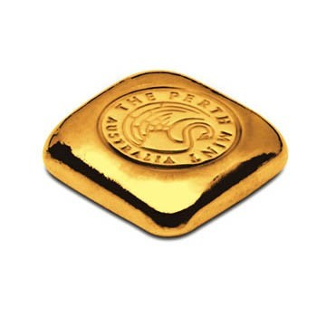 1 oz Perth Mint Gold cast bar