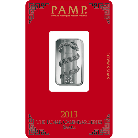 10g PAMP lunar silver bar