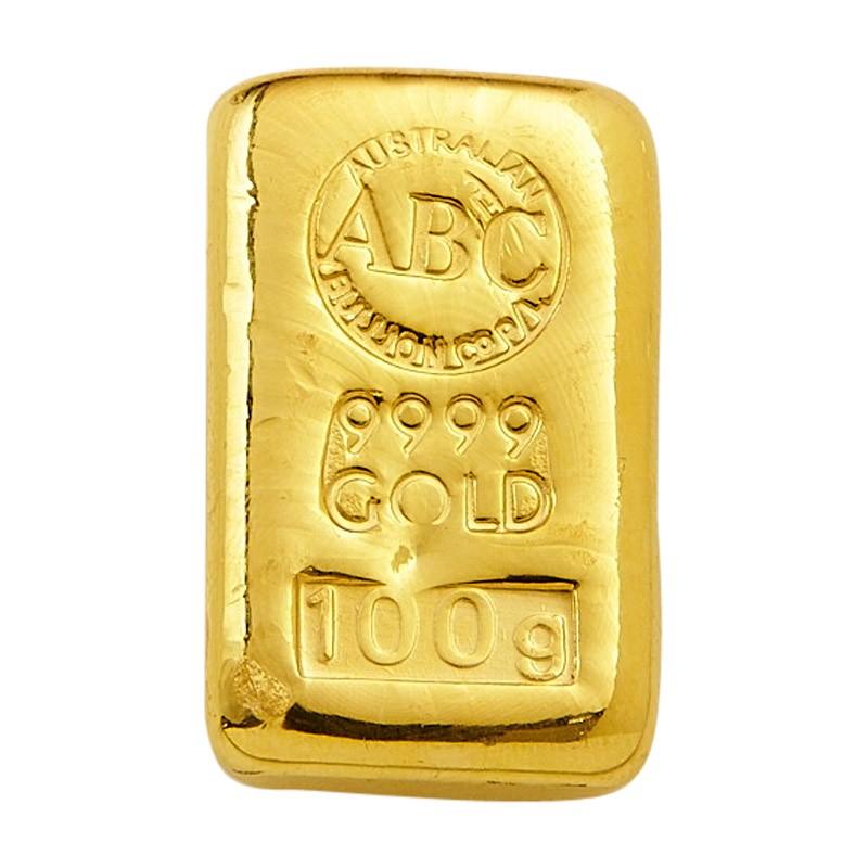 100 Gram Abc Gold Cast Bar