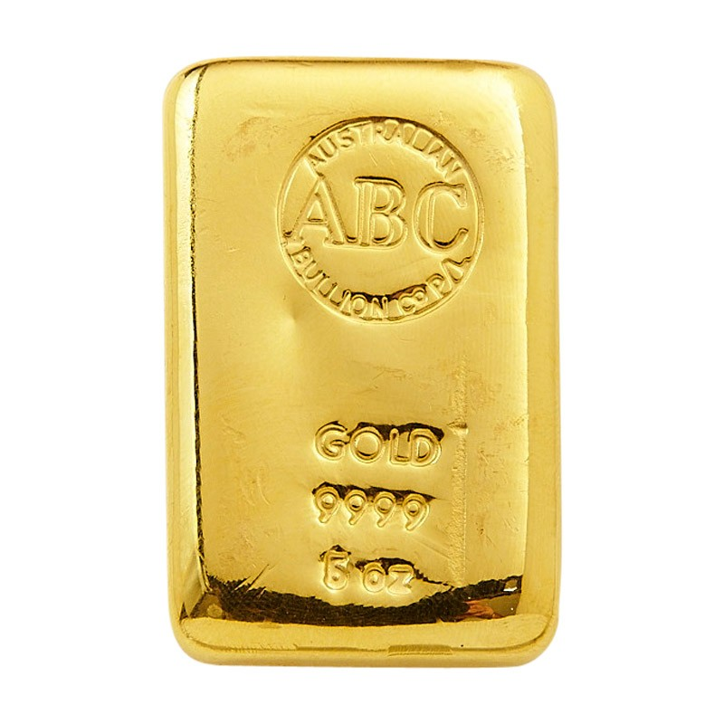 ABC 5oz Gold cast bar