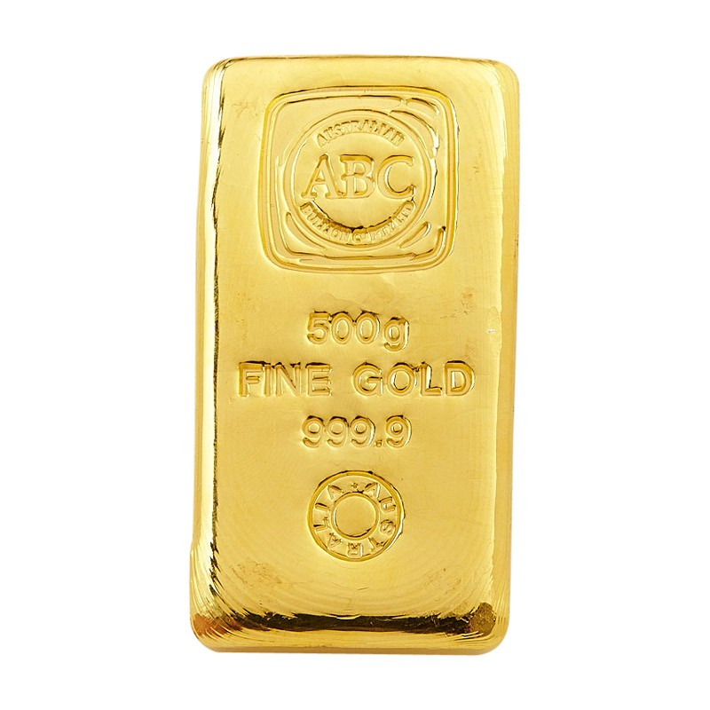 500g ABC gold cast bar