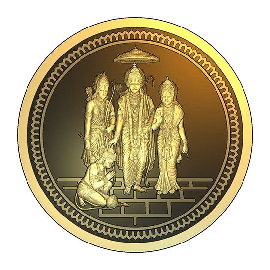 5g ABC Bullion Sri Rama Diwali Gold Coin
