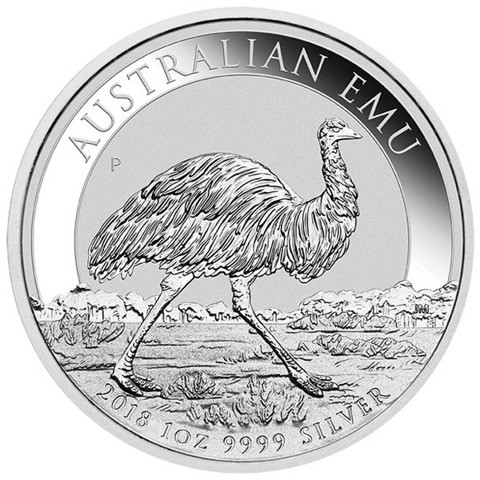 2018 Silver Emu Coin 1oz By Perth Mint