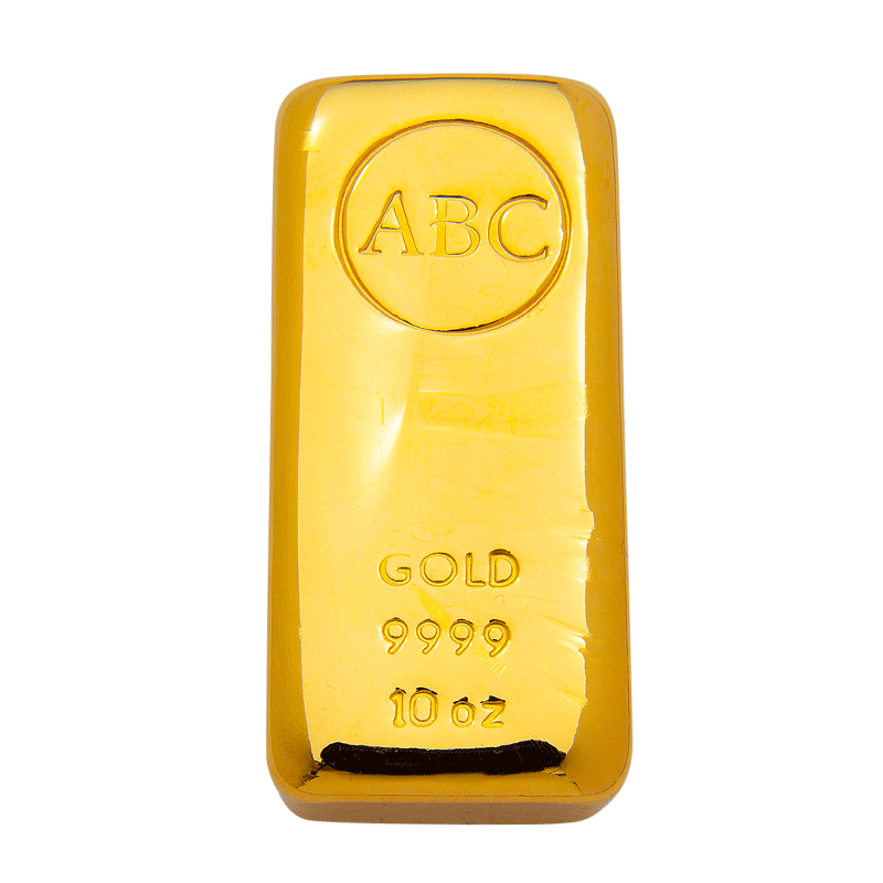 ABC 10oz Gold cast bullion bar