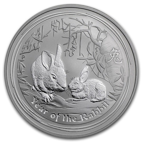 1oz Lunar Rabbit Silver Coin
