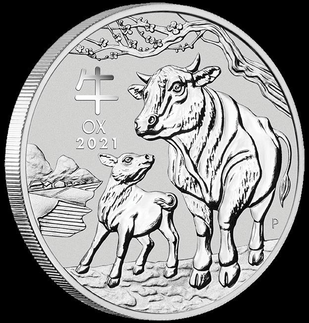 1 oz Lunar OX 2021 Silver Coin