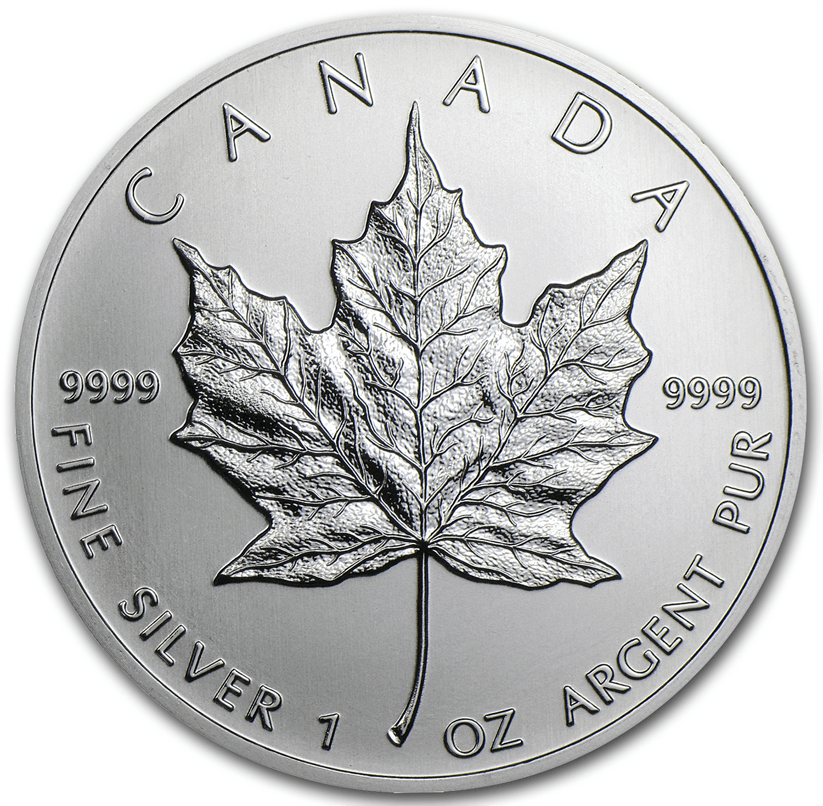 1oz 2012 Canadian Silver Maple Coin