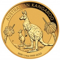1/4oz 2020 Perth Mint Gold Kangaroo Coin