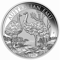 1oz Silver Emu 2019 Perth Mint Coin