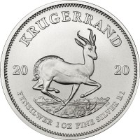 1oz Silver Krugerrand Coin South African Mint