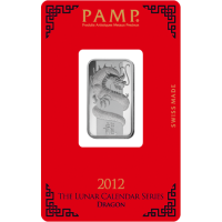 10 G pamp Lunar Dragon Silver Bar