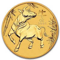 Lunar ox 1/10oz ox gold coin