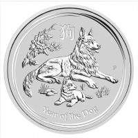 1/2 oz Lunar Dog Silver Coin