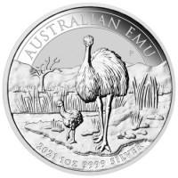 1oz Silver Emu 2021 Perth Mint Coin