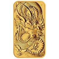 1oz Dragon Gold Coin Bar from Perth Mint