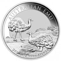 1oz Silver Emu 2020 Perth Mint Coin