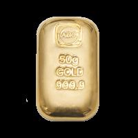 50 Gram ABC Gold cast bar