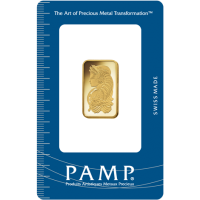 PAMP 10 g Gold Minted Bar