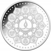 1 ozABC  Diwali Indian Silver Coin