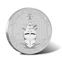 1/2 oz Battle of the Coral Sea Silver Coin