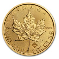 1 oz Gold Canadian Maple Leaf Coin