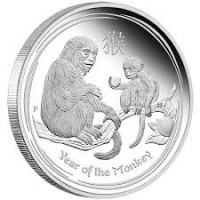 1/2 oz Proof Lunar Monkey Silver Coin