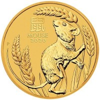 2oz Lunar Mouse 2020 Gold Coin