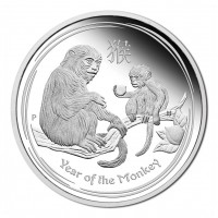 1 oz Lunar Monkey PROOF Silver Coin