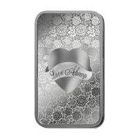 1 oz PAMP Love Always Silver bar
