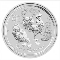 1 oz Lunar Rooster Silver Coin