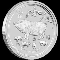 1 oz Lunar Pig 2019 Silver Coin