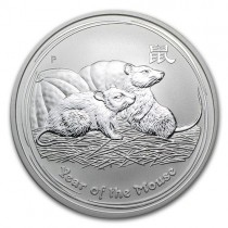 1oz Lunar Mouse 2008 Silver Coin