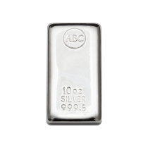 10oz ABC Bullion Silver Bar