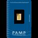 1 gram PAMP gold minted bar